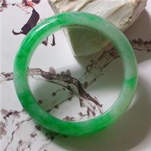冰种飘翠阳绿翡翠手镯