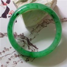冰种满绿翡翠手镯