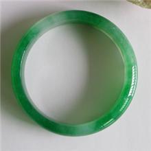 冰种扁条满色阳绿翡翠手镯