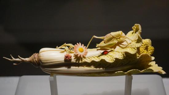 微博人气文物榜评选:河南博物院藏象牙白菜